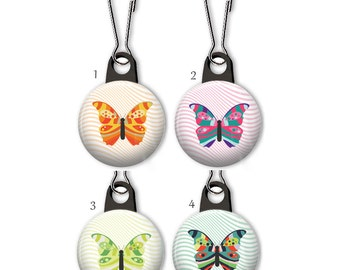 Butterfly zipper pull.  Butterfly charm.