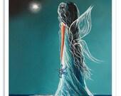 wall art print, wall art, art print, art, fairy art, fairy prints, fairy art prints, pretty fairies, birthstone fairy, signed prints, girl's