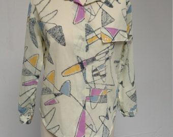 Art Effects 1980s Pastel Painter's Shirt