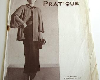 Vintage French Magazine Mode Pratique September, 1935 Fashion Sewing and Knitting No. 46