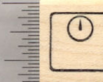 Small Scale Rubber Stamp; .55 inch Tall, Great for Fitness Log A28502 Wood Mounted