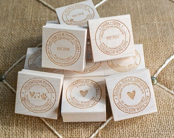 Custom Round Stamp - Personalized Rubber Stamp