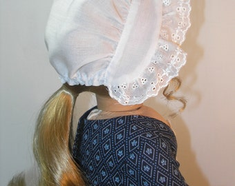 1774-504, 18 Inch Doll Clothes Round Eared Cap for Elizabeth or Felicity