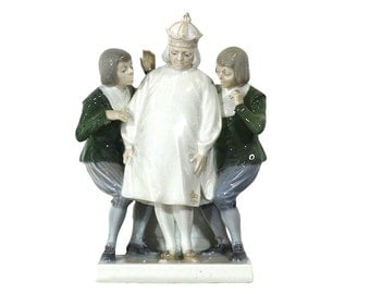 Vintage Emperors New Clothes Figurine Royal Copenhagen Porcelain, Whimsical Home Decor