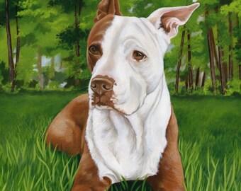 Custom Dog Portrait, Dog Painting, Custom Pet Portrait from a photo, Pet Art, Dog Lover Gift idea, Pet Memorial, custom size 18 x 18