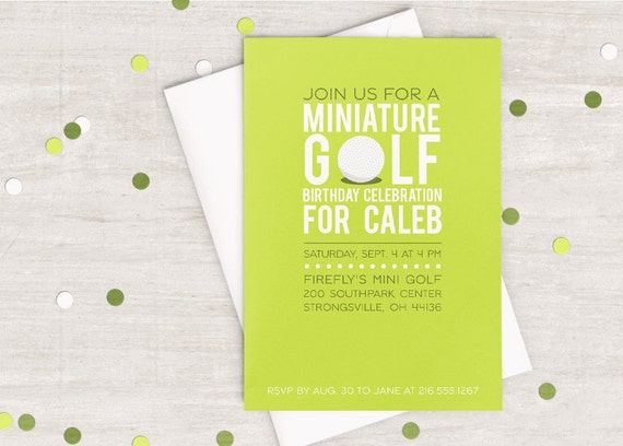Mini Golf Party Invitation