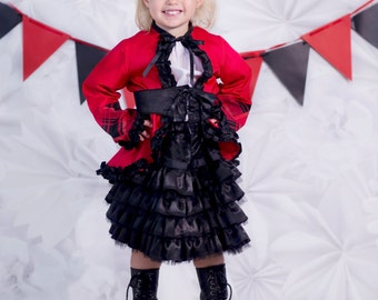 Circus Birthday Party Outfit - Toddler Carnival - Little Girls Ringmaster Costume - Girl Birthday Outfit - Boutique Costume -...
