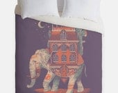 Africa Elephant Duvet Cover - Animal Traveler Bedroom Decor - Made in USA - Great Bedroom Artwork
