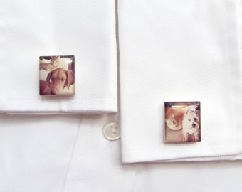 Custom Photo Cufflinks - Father's Day Gift - Personalized Keepsake Gift for Him - Wedding Day Gift - Anniversary Present