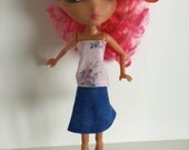 Handmade Monster High Ever After High La Dee Da Clothes Top Blouse