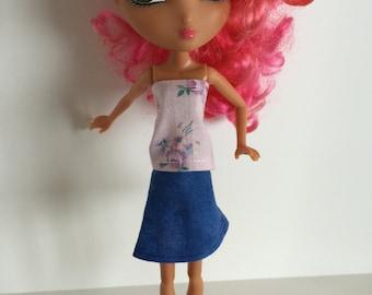 Handmade Monster High Ever After High La Dee Da Clothes Top Blouse (S1501)