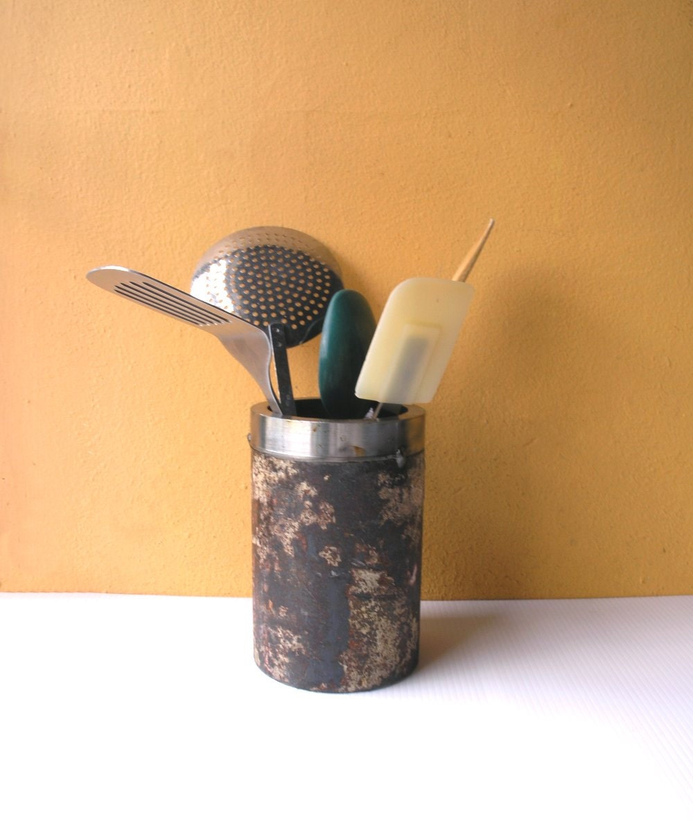 Industrial Kitchen Utensils: Kitchen Caddy Industrial Pipe Big Utensil Holder Industrial