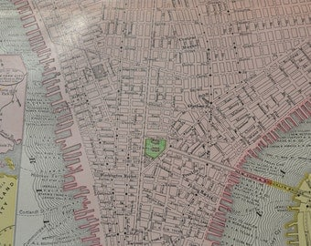 1898 Map New York City - Vintage Antique Map Great for Framing 100 Years Old