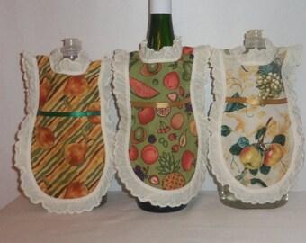 Dish Soap Apron, Handmade, Fresh Fruit, Kitchen Decor,  Eyelet Lace