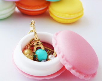 Mini French Macaron Stitch Markers Holder - Cute Storage for Knitters and Crocheters - Six Colors Available!