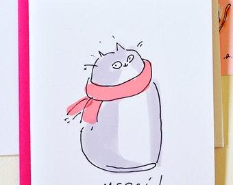 Merci - Cat Thank You Card