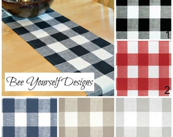 Buffalo Check Table Runner, Premier Prints Anderson Large Checkers - Home, Banquet, Wedding, Banquet, Party  Premier Prints