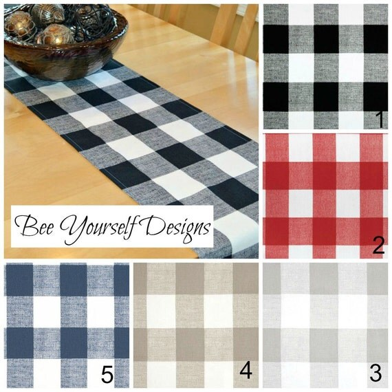 Buffalo Check Table Runner Premier Prints Anderson Large