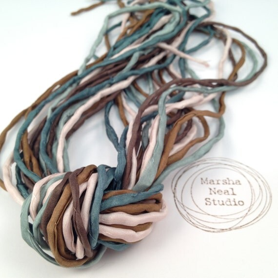2mm Silk Cord Hand Painted Simple Nature Inspired Marsha Neal Studio Color Palette