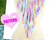 Crochet Fringe Necklace - Easy Beginner Crochet Pattern