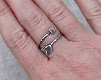 Arrow Ring, Sterling Silver