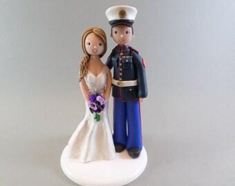 Custom Made Military Wedding Cake Topper