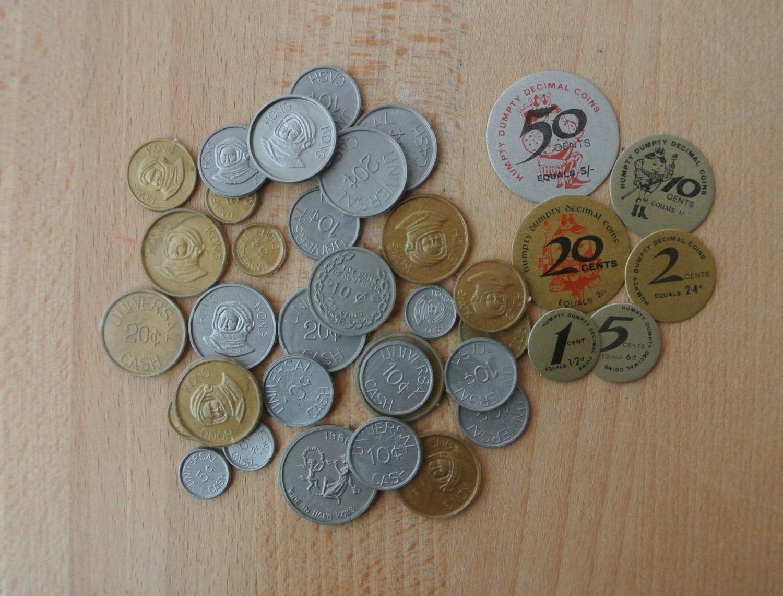 australian play money coins
