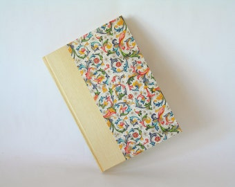 Address book large - butter yellow and Florentine - 6x8.5 in 15x22cm - Ready to ship