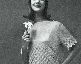 Summer Stroll Blouse or sweater Knitting Pattern 726107