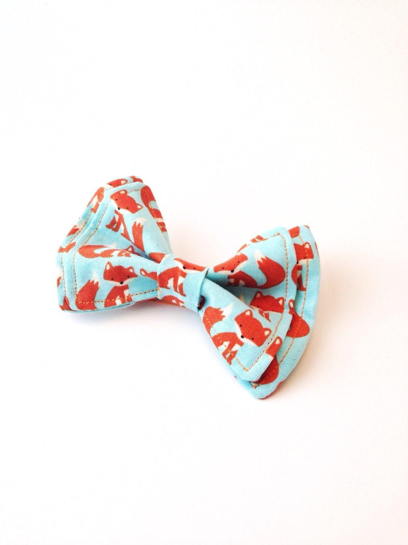 bow tie fox bow tie toddler bow tie orange bow tie