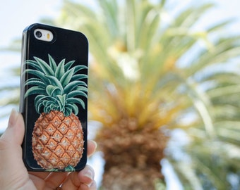 Pineapple iPhone 7 Case Tropical, iPhone SE Case Botanical iPhone 6S Plus Pineapple iPhone Case 5S Samsung Galaxy S6 Edge Summer Outdoors