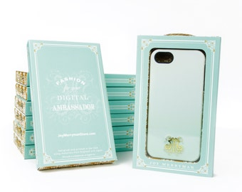 Mint Green Ombre - iPhone 6S Plus, iPhone SE, iPhone 7, Galaxy S6 Edge Plastic Phone Case