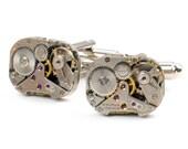 Steampunk Vintage Watch Cuff Links