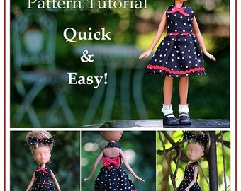 "Garden Party Dress Pattern Tutorial Pictorial for Bratz Dolls, Moxie and other 9"" Fashion Dolls"