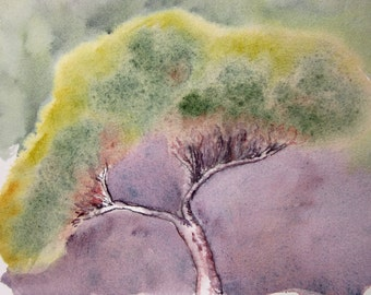 Original abstract watercolour painting ~ tree