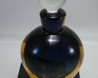 Modernist Art Glass,Modernist Perfume Bottle Marked WASI, 1986 Art Glass Perfume Bottles,Art Glass,  Art Glass, Perfume Bottles, Color Glass