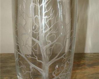 EKENAS SWEDEN SCANDANAVIAN Crystal art glass vase signed etched