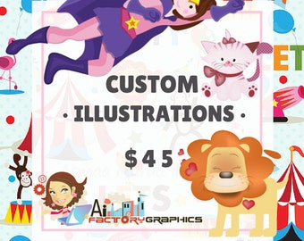 Custom illustration clipart, Aifactory vector clipart Commercial use.