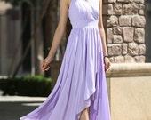 Woman maxi dress tulle dress wedding dress in purple (995)