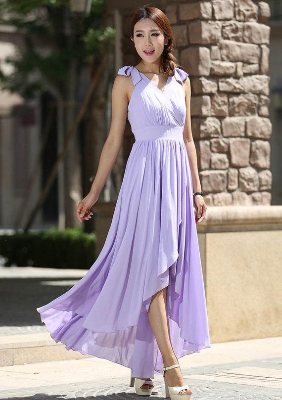 maxi dress summer, Woman maxi dress tulle dress wedding dress in purple (995)