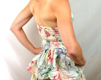 Best-ever Vintage 1980s Floral Ruffle Party Dress - All That Jazz