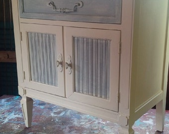 Bedside Table Vintage Mademoiselle French Provincial PAINT to ORDER Vintage Poppy Cottage Painted Furniture