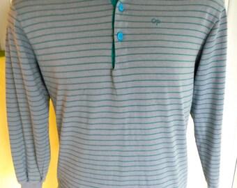 Ocean Pacific 1980s vintage longe sleeve surf shirt - size medium