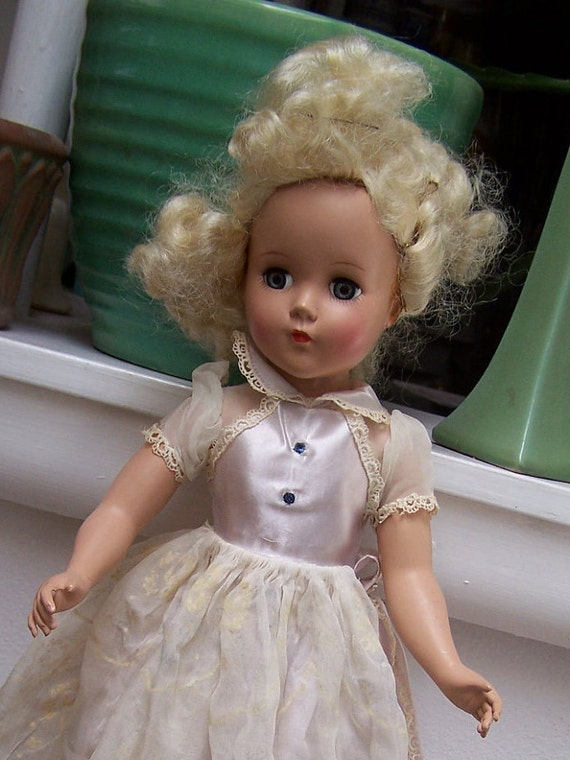 Arranbee Doll R&B 18 inch hard plastic maybe Cinderella Original outfit shoes stockings Alice in Wonderland