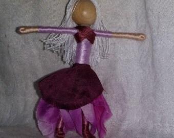 Waldorf Flower Fairy Doll - Purple Orchid Art Doll, Worry Doll, Faery, elemental