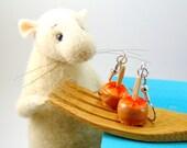 Caramel Apple Earrings - Miniature Food Jewelry MADE TO ORDER Food Earrings