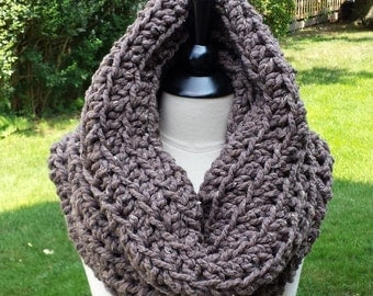 SCARF Cowl Neckwarmer Infinity, Scarf Cowl Circle Fall Winter, Scarf Cowl Thermal Gift Winter, Scarves Chunky Scarf Cowl Wrap READY to SHIP