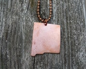 CUSTOM:  I Love New Mexico Personalized Stamp Pendant