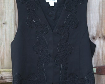 90's Beaded Alfred Dunner Vest/shirt (14/L/XL)