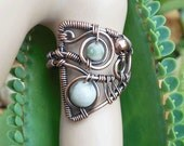 Boho gypsy ring mystic jewelry gypsy jewelry  boho rings boho jewelry  wire wrapped ring  bohemian rings statement ring size 10 rings